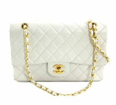 Chanel Ivory Quilted Double Flap Bag