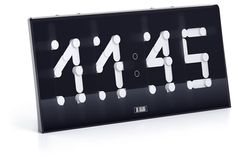 Segmentus Clock (concept) - Vasily Dubovoy: A postmodern digital clock with arms. Click on the link for the mesmerizing demo. Also white with black digits.
