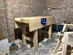 Workbench by Richard Burton Building A Workbench, Workbench Ideas, Outdoor Furniture, Outdoor Decor, Woodworking Tools, New Homes, Gallery, Table, House