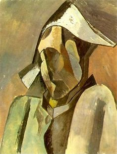 "Pablo Picasso - ""Buste d`Arlequin"". 1909"
