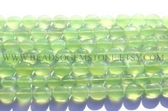 Parrot Green Chalcedony Smooth Oval (Quality AA) / 8x11 to 11x13 mm / 36 cm / CHALCEDO-002 by beadsogemstone on Etsy