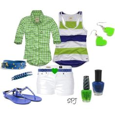 """""""Paige"""" by s-p-j on Polyvore...love the bright green and blue"""
