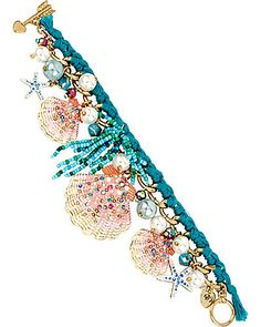 betsey johnson  SHELL SHOCKED SHELL SKINNY BRACELET MULTI