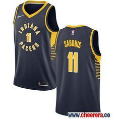 17b16e3d1 Men s Nike Pacers  11 Domantas Sabonis Navy Blue NBA Swingman Jersey