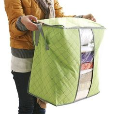 2017 Newest 48*30*50cm Foldable Flower Printed Quilt Sorting Anti-bacterial Clothing Organizer Bags Storage Bag