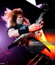 Dave Mustaine of Megadeth performs at Manchester Apollo on February 17th, 2009 in Manchester, England.