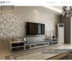 Fashion European Style PVC Wall Paper Rolls Wallpaper Suitable For Bedroom