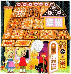 Bröderna Grimm - Hans och Greta by Book Cover Lover Childrens Christmas, Christmas Art, Childrens Books, Children's Book Illustration, Graphic Design Illustration, Hansel Y Gretel, Grimm Fairy Tales, Illustrators, Art For Kids