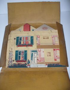 Vintage Tootsie Toy Cardboard Dollhouse No 12 | eBay