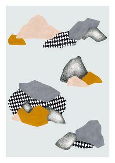 Rocas print 8 x 11.5 A4 by Depeapa by depeapa on Etsy