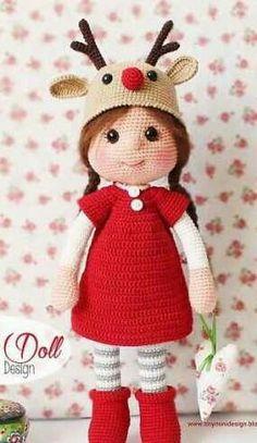 вязаная кукла Оливия