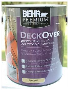 painting a deck, decks, painting, This is Deck Over by Behr