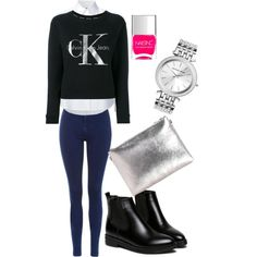 A fashion look from May 2017 by somolicek featuring Misha Nonoo, Calvin Klein Jeans, Topshop, WithChic, Boohoo, Michael Kors and Nails Inc.