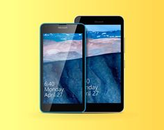 Lumia 640 & 640 XL free vector template