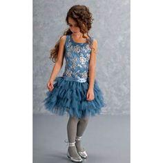 Biscotti Filigree Flutter Holiday Dress