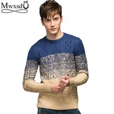 2017 Men splice print pullover christmas Sweater British retro mens Brand Casual slim fit jumper O Neck sweater