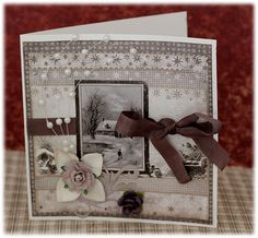 Christmas card created with the new A Gift For You by Maja Design.