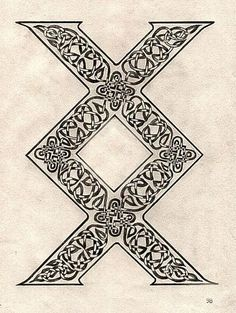 """viking symbol called inguz, means """"where there is a will, there is a way"""", it can also me a completion of a task, or to stay on your path or journey. i really love this would be an awesome tattoo."""