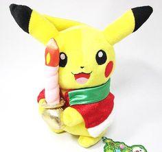 Christmas Edition Pikachu Plush Doll Pokemon Center 2010 Limited RARE | eBay
