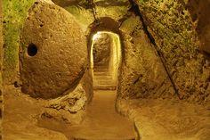 Derinkuyu Underground City is an ancient multi-level underground city of the Median Empire in the Derinkuyu district in Nevşehir Province, Turkey.