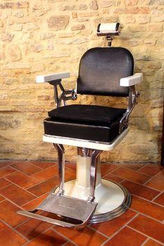 barber chair vintage - sedia da barbiere vintage