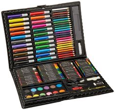 Darice Deluxe Art Set – Art Supplies for Drawing, Painting and More in a Plastic Case - Makes a Great Gift for Children and Adults: Arts Crafts Sewing: New Releases - Early Bird Special Drawing For Kids, Painting For Kids, Painting Tools, Drawing Art, Art Drawings, Art Sets For Kids, Art Kids, Toddler Gifts, Toddler Toys