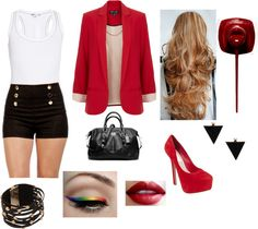 "I like the outfit, but not sure about the rainbow eye liner ""Clubbing Outfit"" by mrs-addi-tomlinson on Polyvore"