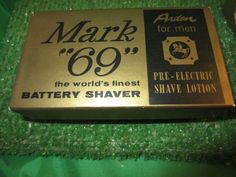 "VINTAGE ""MARK 69"" WORLD'S BEST BATTERY SHAVER Arden for men pre-electric kitschy"