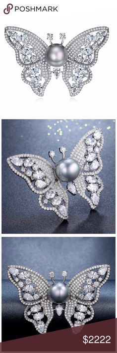 ‼️ COMING SOON Swarovski Crystals Butterfly Brooch ‼️ ‼️PLEASE LIKE THIS LISTING TO BE NOTIFIED WHEN THEY ARRIVE‼️‼️ Jewelry Brooches