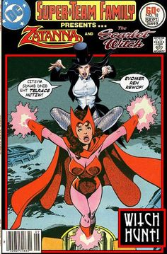 Zatanna and Scarlet Witch Team-Up - DC x Marvel Comics Crossover Make A Comic Book, Marvel Comic Books, Comic Book Characters, Comic Book Heroes, Comic Character, Comic Books Art, Comic Art, Joker Comic, Dc Heroes