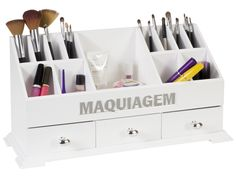 Organizador de Maquiagem | Caixas | Meu Móvel de Madeira
