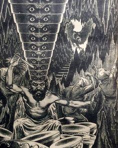This is what I imagine went on in John Bonham's mind. Artwork by Virgil Finlay in the August 1952 issue of Fantastic Adventures. #vintagepulps #virgilfinlay #johnbonham #drummer #drums #heavymetal #bestdrummerever #ledzeppelin #crazydrummer #pulp #pulps #pulpart #pulpmagazine #pulpmagazineart #illustration #illustrationart #penandink #pendrawing #fantasy #fantasyart #metal #drumlife by vintagepulps