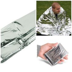 Delicate Silver Thin Emergency Blanket Survival Rescue Life-saving Curtain