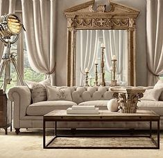 46 Stunning Comfy Living Room Decor Ideas For Any Home Design Casa Magnolia, Restoration Hardware Living Room, Mirror Restoration, Restauration Hardware, Living Room Furniture, Living Room Decor, Decoration Inspiration, Decor Ideas, Decorating Ideas