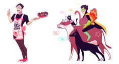 Jay and Dami. And all his pets. Don't forget the pets