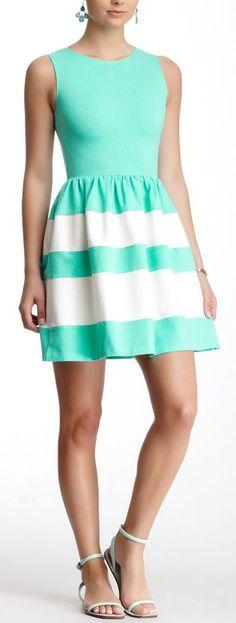 Mint & White //... Love love love this dress
