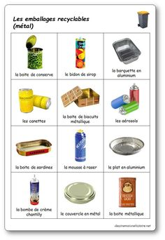 The selective sorting game: recyclable metal packaging - Mary Martinez Free Preschool, Preschool Worksheets, Recycling Activities For Kids, Sorting Games, School Games, French Lessons, Earth Day, Science And Nature, Skin Treatments