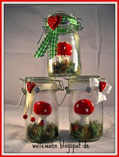 Happiness in the glass Wool delusion: happiness in the glass (Diy gifts Christmas) The post happiness in the glass appeared first on birthday present. Mushroom Crafts, Diy Birthday, Diy Christmas Gifts, Needle Felting, Diy Gifts, Diy And Crafts, Projects To Try, Crafty, Glass