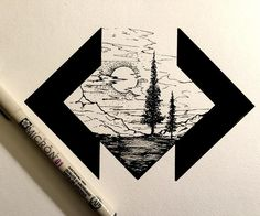 """#drawing #dailydrawings #illustration #ink #inkdrawing #landscape #geometry #artofdrawingg #iblackwork #art_spotlight #artshelp #art #artoftheday…"""