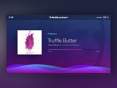 Dashboard Music Player by Justin Bellefontaine