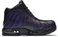 40e3cc67bfe Nike Mens Air Max Foamdome Boots Varsity Purple Black 843749-500 Size 6.5