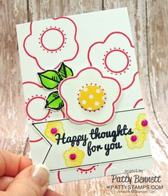 Happy Flower card with My Paper Pumpkin stamps