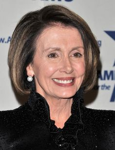 Nancy Pelosi hairstyles - Andrew H. Walker. I like the color of her highlights. No red!
