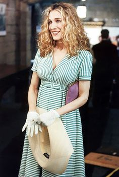 5 Iconic Carrie Bradshaw Outfits to Inspire Your Summer Style via @WhoWhatWear