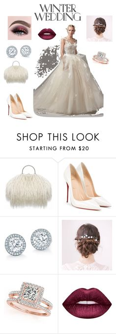 """""""Sans titre #36"""" by haticemej ❤ liked on Polyvore featuring Christian Louboutin, Maggie Sottero, Allurez and Lime Crime"""