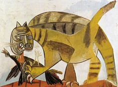 Pablo Picasso * Chat dévorant un oiseau, 1939