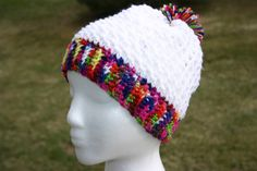 Kids Crochet Beanie Hat Multi Colored  Unisex by OneInEssence