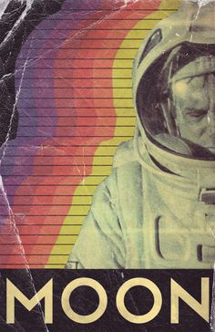 minimal movie poster, Moon by Trevor Dunt