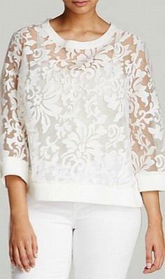 Fashionable summer blouses, tunics, tops for full Blouse Styles, Blouse Designs, Diy Clothes, Clothes For Women, Mode Hijab, Mode Inspiration, Lace Tops, Refashion, Fashion Outfits