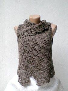 Lambswool Crochet Vest.